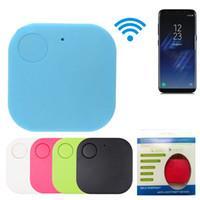 2020 YENİ Mini Dikdörtgen Kablosuz Akıllı Etiket Bluetooth Anti Alarm Tracker 5 Renkler GPS Locator Alarmı Anahtarlık İzleyiciler