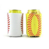Neoprene de beisebol pode refrigerador suporte de copo grosso Softball Beverage Can mangas Beer Cup caso capa LJJA3820