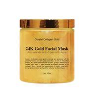 Collageno di cristallo dell'oro 24K del collageno dell'oro facciale Maschera Rimuovere comedone Facial Mask alta Viso umidità