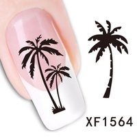 Nail Art Decals Sticker 1 Sheet Cartoon Owl Coconut Tree Des...
