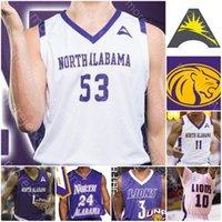 Personalizzato North Alabama UNA Lions Jersey di pallacanestro NCAA College Jamari Blackmon C.J. Brim Emanuel Littles Christian Agnew Mervin James