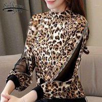 Womens tops and blouses Leopard print chiffon women blouse s...