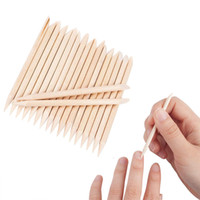 factory 100Pcs Orange Wood Nail Sticks Double Sided Multi Functional Cuticle Pusher Remover Manicure Pedicure Tools Mini Skater