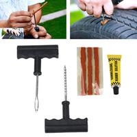 Autoreifenreparaturwerkzeuge Schlauchlose Reifenpannenreparatur-Stecker-Kit-Nadel-Patch-Verlegenheitswerkzeuge Zement nützlich Set