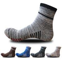 Masculina del invierno casual de negocios calcetines respirables color sólido calcetines de algodón para hombres de moda en el tubo de la UE 39-44 Meias