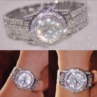 Diamond Mujeres Relojes 2019 Moda Vestido Reloj de lujo de alta calidad Reloj de pulsera de lujo Cuarzo Reloj Reloj de pulsera Girls Regalo