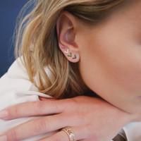 Vite a bottone semplice piercing in argento sterling 925 V Orecchini a bottone a chiodo Arrow 4 borchie delicatissime e delicate per bambina