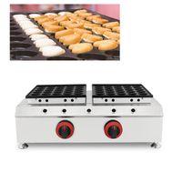 Gas Niederlande Herz Poffertjes Pfanne 50 Mulden Holländische Baby Crêpe Mini Pancake Maker Eisenpfanne Backplatte kleine Puff Waffelmaschine