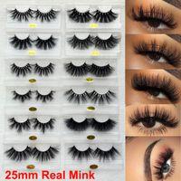 3D Mink cílios 25 milímetros real Mink cílios falsos 5D as pestanas falsas longas composição dramática Natural Grosso Mink Lashes Handmade Volumn Lashes