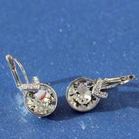 Fashion Small Bella Boucle d'Oreille Femme 2019 realizzato con Swarovski Elements Crystal for Women Wedding Party Jewellery Accessory Bijoux regalo