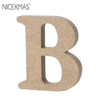 NICEXMAS A-Z Holz Alphabet Buchstaben Plaque Wand Home Office Hochzeit Dekoration Für Hochzeit Dekoration