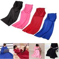 بطانية رداء العباءة مع دافئ الأكمام لبس كم بطانية بطانية يمكن ارتداؤها