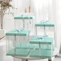 6inch 8inch 10inch 투명 케이크 상자 플라스틱 케이크 포장 상자 주최자 상자 및 포장 상자 DIY 결혼 선물