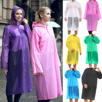 للجنسين الأزياء إيفا النساء معطف المطر ماء سميكة النساء واضح شفاف التخييم ماء المطر دعوى جديدة