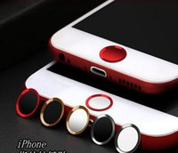 Apple mobile phone button stickers metal home button fingerp...