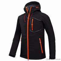 Nuovi uomini attivi Giacca conchiglia in inverno marchio escursionismo softshell giacca uomo antivento impermeabile termico per campeggio escursionistico