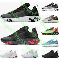 Reagir Elemento 87 55 UNDERCOVER Mulheres Homens Running Shoes Jogo Royal Blue Red Olive Camo Volt Racer rosa épicos Trainers Sneakers frete grátis