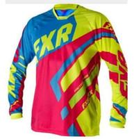2021 FXR DH с длинным рукавом Track Trersey Motocross MX Downhill ROPA MTB Mountain Bike Racing рубашка двигатель Cross одежда