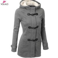 6XL Plus Abbigliamento Donna Autunno Inverno New Cow Horn Clasped Coat Women Ispessito Long-Length Wool Cotton Female Jackets Parka