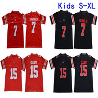 cfd576a78 2019 Youth Ohio State Buckeyes College Football Jersey Home Red Kids 15  Ezekiel Elliott 7 Dwayne Haskins Jr. Stitched Football Shirts S-XL
