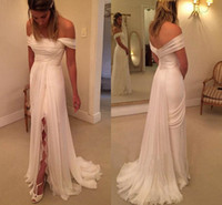 Cheap Price Boho Beach Wedding Dresses Long Off shoulders Si...