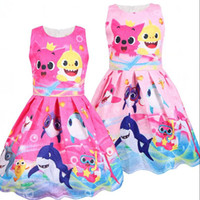 Baby Shark Summer Dress Girls Cartoon Print Dresses Cosplay ...