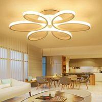 Pendelleuchten Minimalismus Kronleuchter Aluminium Moderne Blume LED Deckenleuchte für Wohnzimmer für Wohnzimmer Schlafzimmer