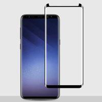 Samsung S8 S9 Artı Not 9 Not 8 S6 Kenar S7 Kenar için Kılıf Dostu Tam GlueTempered Cam Ekran Koruyucu 3D Kavisli Kenar