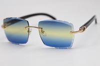 Produttori 3524012 Nero Nero Occhiali da sole corno Occhiali da sole Scultura Lens Unisex Silver Green Gucchiamento Guida Gucchi di guida C decorazione Gold Metal Frame Eyewear