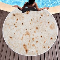 Mexico pancakes Cream Polenta Cake Round Beach Towel New sty...