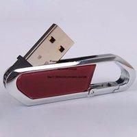 Metal Carabiner Usb Flash Drive 8GB Pen Drive 64GB 16GB 32GB 128GB Pendrive Real Capacity Memory Stick Disk Free Shippin Custom Logo