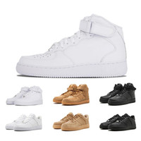 2018 forceing 1 Classical All White black low high cut men &...