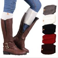 Örme Yün Bacak Isıtıcıları Düğme Kısa Çizme Kapak Çorap Ayak bileği Manşetleri Kadınlar Tığ Tüp Çorap Kış Boot Manşetleri Boot Toperler Aksesuarları C7031