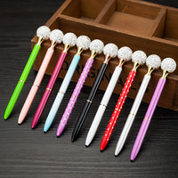 الأزياء بلينغ العديد من الماس أقلام حبر جاف كريستال الكرة القلم طالب هدية مدرسة اللوازم المكتبية توقيع الأعمال القلم