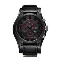 Watches Men Fashion Three Eyes 3D Big Dial Sport Quartz Allo...