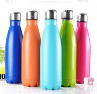 Cola bala Tipo de agua botella de 500 ml Botella de vacío de aislamiento de doble pared de acero inoxidable de agua al aire libre vacío ventosa