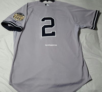 Cheap Mens DEREK JETER #2 NEW YORK COOL BASE Jersey Stitched...