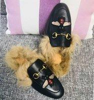 Leadcat Fenty Rihanna Pantoufles En Fausse Fourrure Femmes Filles Sandales Mode Poignets Noir Diapositives De Haute Qualité Avec La Boîte