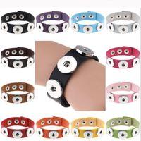 Botón Noosa pulsera Snap Trozos de metal encantos 18mm cuero de la pulsera de los brazaletes Ginger Snap regalos Declaración de joyería botón para Hombres Mujeres Niñas