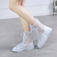 Hot Sale-Wasserdichte Regen Schuhe Abdeckung Wiederverwendbare Stiefel Flache Überschuhe Abdeckungen Anti Slip NEU