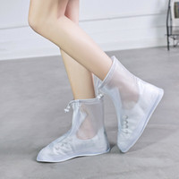 Zapatos calientes de lluvia Venta-impermeable de la cubierta reutilizables bota plana Overshoes Cubiertas Anti Slip NUEVO
