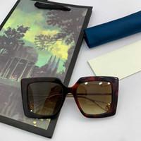 스퀘어 프레임 선글라스 골드 금속 사원은 최고 품질 서양 스타일 브랜드 명품 선글라스 남성 블랙 판자 프레임 안경 GG0435S 갈래