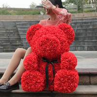 Factory Directly Sell Oversize 70CM Rose Bear Artificial Flo...