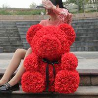 母の日のバレンタインガールフレンドギフトパーティーの装飾のための特大70cmのローズベア造花の特大を直接販売する