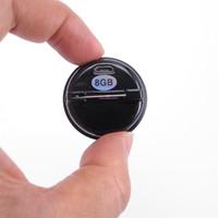 8G شارة حامل بروش مسجل صوت 20 ساعة وقت العمل جهاز صغير تشغيل MP3 لا صوت ولا ضوء