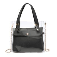 Clear Transparent Shoulder Bags Women Candy Color Women Jell...