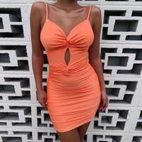 Bustier Kleider Sexy Frauen tiefem V-Ausschnitt Booty Kleid Fitness hohe Taille Partei Nachtclub Mini Outfits 2020 Vestidos