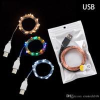 2 M 5 M 10 M USB 5 V Fil De Cuivre Led jeu de Lumières Pour La Fête De Vacances De Mariage Guirlande De Noël décoration Lampe