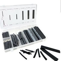 127 PCS 2:1 Polyolefin Heat Shrink Tubing Cable Tube Sleeving Kit Wrap Wire Set