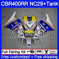 Kit voor HONDA NC29 CBR400 RR CBR400RR 94 95 96 97 98 268HM.9 CBR 400 RR NC23 CBR 400RR ROTHMANS BLAUW 1994 1995 1996 1997 1998 1999 Verklei